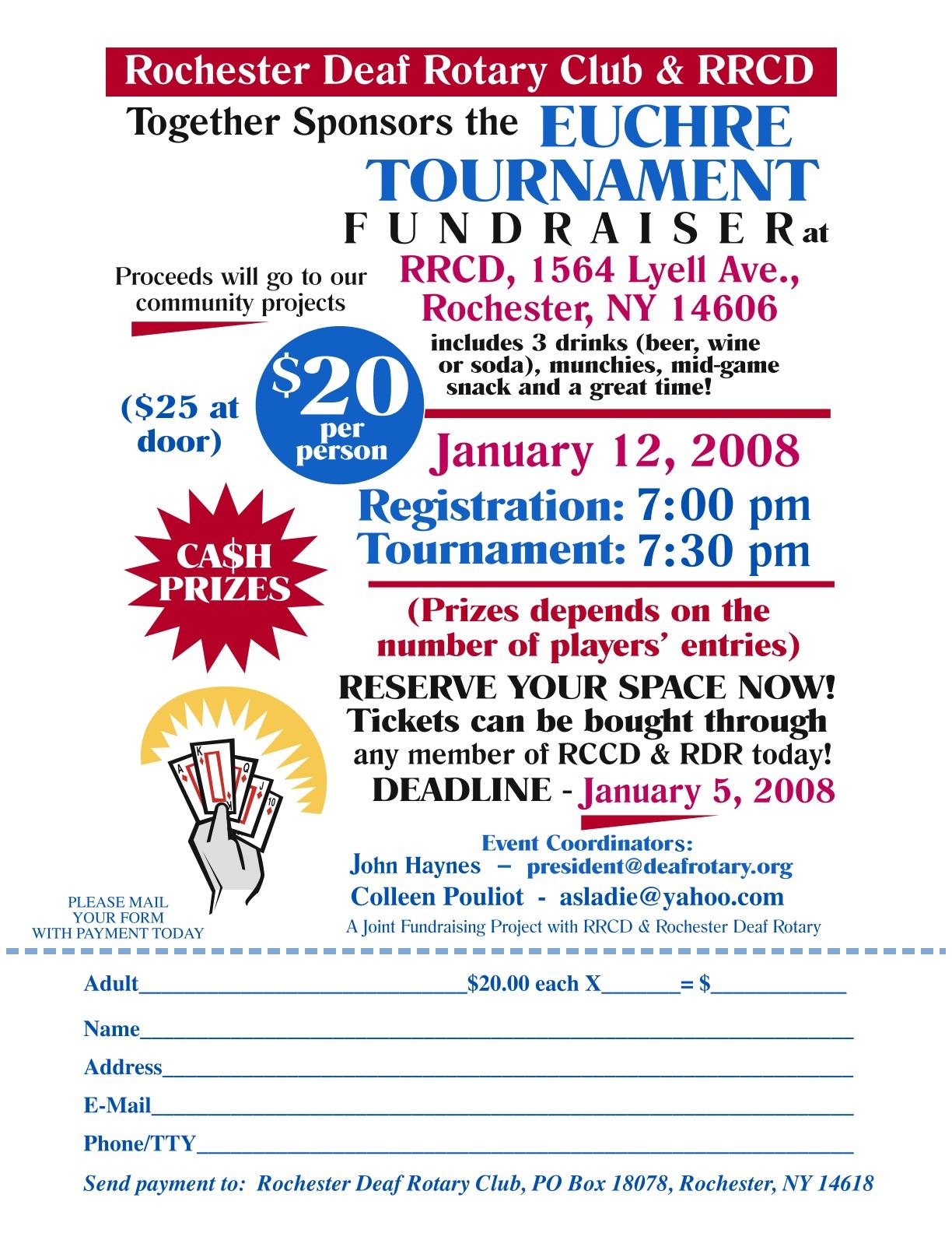 Euchre tournament prizes