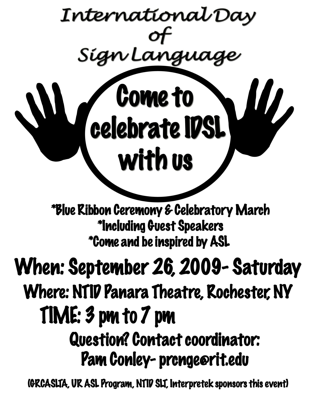 International Day Of Sign Language Celebration This Saturday